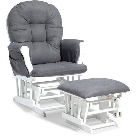 Baby Glider And Ottoman Rocking Chair Grey Cushions