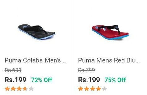 Puma Slippers for Rs.199 Only Shopclues  a48c4cf3f