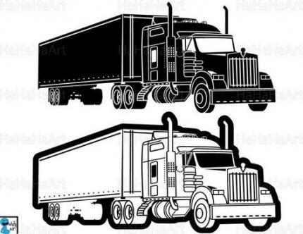 39 Ideas Semi Truck Silhouette Digital Graphic Design Semi Trucks Clip Art