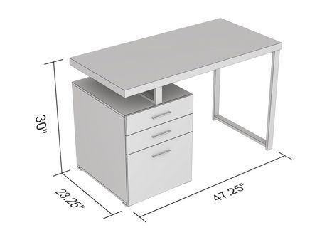 Safdie Co Computer Desk 47 25l Brown Reclaimed Wood 3 Drawers Black Metal Walmart Canada In 2020 Desk Reclaimed Wood Computer Desk
