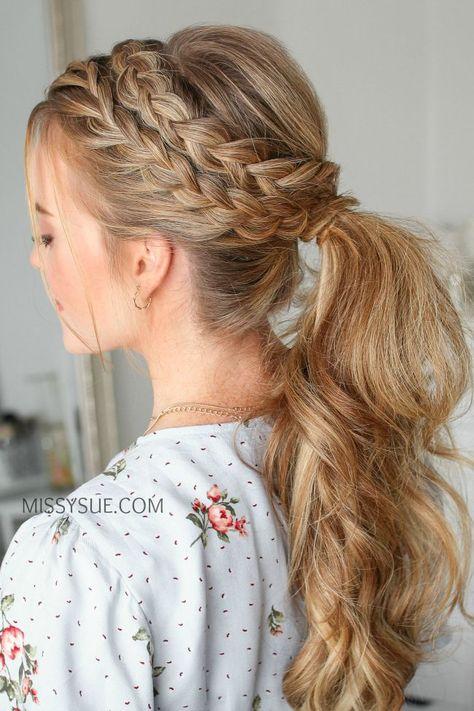 Lace  Dutch Braid Ponytail  Hair Tutorial  Viva La Vibes #braid #dutch #ponytail #tutorial #vibes