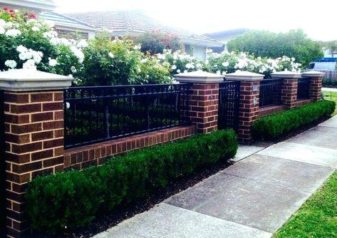 Pin By Jeanette Van Der Wijngaart On Voortuin Brick Fence Fence