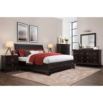 Dustin 6 Piece King Bedroom Set King Bedroom Sets California King Bedroom Sets Bedroom Furniture Stores