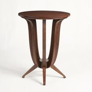 Imperial Deco Solid Ash Wood Side Table Chestnut Ash In 2019
