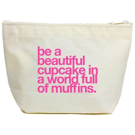 Dogeared be a cupcake lil' zip makeup bag.