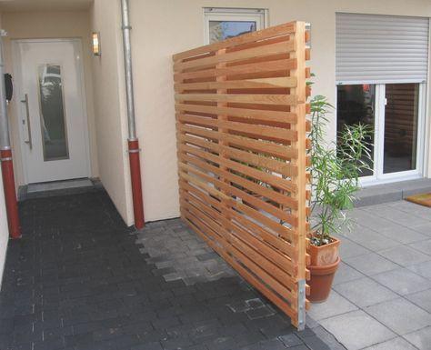 Holzschwarten Sichtschutz Garten Selber Bauen Sichtschutz Garten