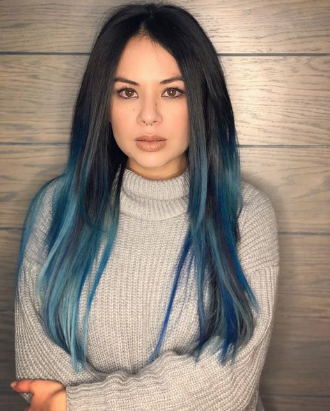 """Janel Parrish on Instagram: """"When a role calls for blue hair and a pierced nose...sometimes you just go all in 😜"""""""