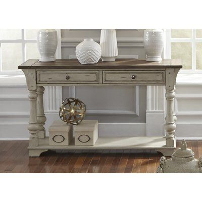 Rosecliff Heights Wrightsville Console Table White Sofa Table Liberty Furniture Sofa Table