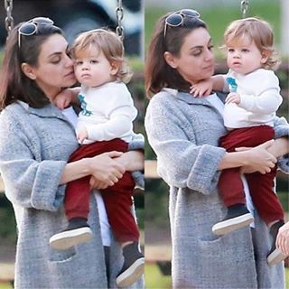 Mila Kunis Spotted At A Park In La With Her Son Dimitri Portwood