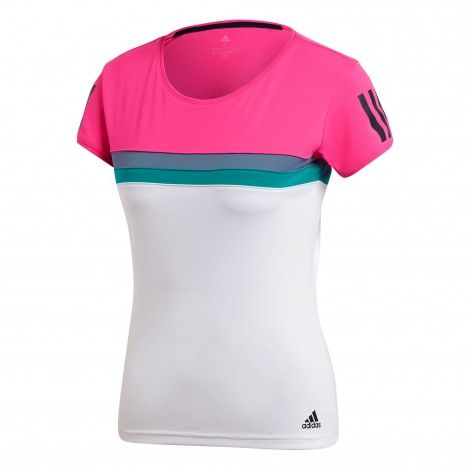 adidas Club tennisshirt dames shock pink | Kleding, Model, Fit
