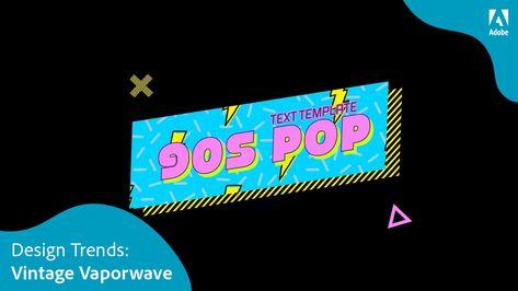 90s pop-art titles in motion