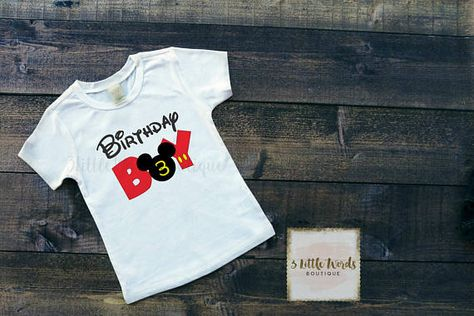 Mickey Birthday Boy Shirt Leave Number In Notes To Seller Section When Checking Out BODYSUIT SIZES Carters Just One You Newborn 3 Month
