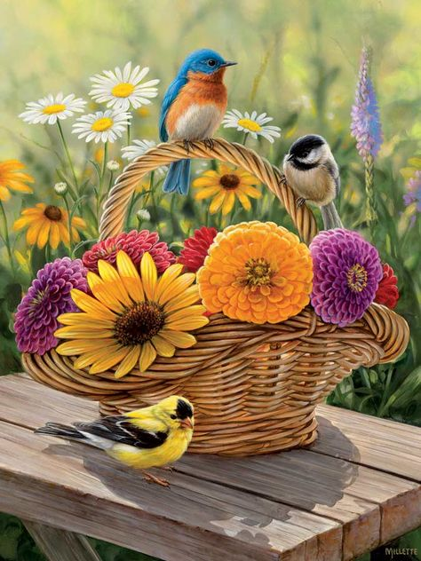 """Summer Bouquet is a 275 piece Easy Handling jigsaw puzzle from Cobble Hill. Finished puzzle measures 18"""" x 24"""". Artwork by Rosemary Millette.Whether a puzzle expert or a beginner, Cobble Hill's Easy Handling line makes it easy for the visually impaired or little ones to get their hands around these large size pieces! Proudly made in the USA!"""