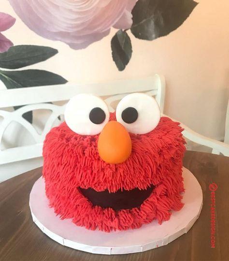 50 Elmo Cake Design (Cake Idea) - October can find Elmo birthday and more on our Elmo Cake Design (Cake Idea) - October 2019 Elmo First Birthday, Birthday Cake Girls, Birthday Fun, Monster Birthday Cakes, Boy Birthday Parties, Birthday Ideas, Sesame Street Birthday Cakes, Sesame Street Cake, Sesame Street Cupcakes