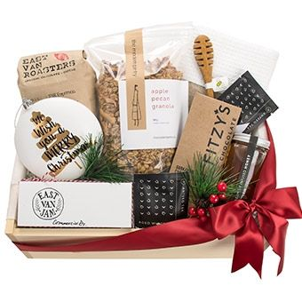 Weekend Brunch Gift Box By Pacific Basket Vancouver Brunch Gifts Christmas Gift Baskets Holiday Gift Baskets