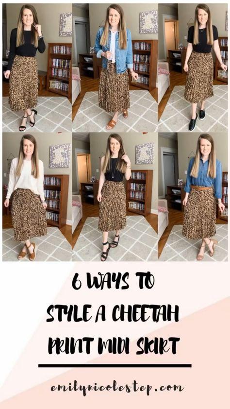 6 Ways to Style a Cheetah Print Midi Skirt • emilynicolestep.com