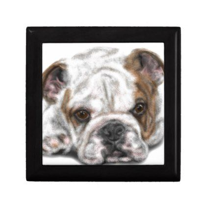 Bulldog Puppy Gift Box Dog Puppy Dogs Doggy Pup Hound Love Pet
