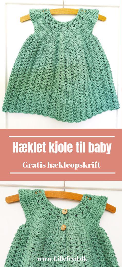 De 2860 bedste billeder fra Babykjoler kjoler | Crochet
