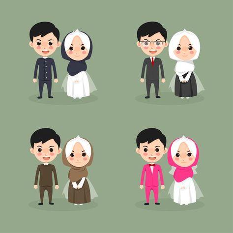 200 Ide Wedding Animasi Di 2021 Gambar Pengantin Kartu Pernikahan Pernikahan