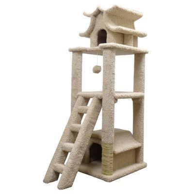 New Cat Condos 67 Premier Designer Cat Tree Color Beige Cat Condo Cat Tree Designs Cat Tower Furniture