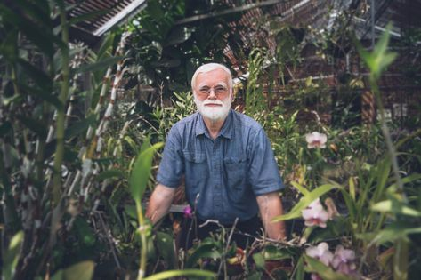 """John Hayden made an unexpected discovery in Gottwald right as the pandemic shutdown began in March 2020. The professor of biology walked into the workroom for the greenhouse. Amid flower pots and bags of soil, he spotted indoor plants with a note: """"Please take care of me."""" The writer couldn't have chosen a better plant steward. Hayden has been teaching at the University for more than 40 years with a focus on plant biology. He wants to know what plant structures and form can tell us about relat"""