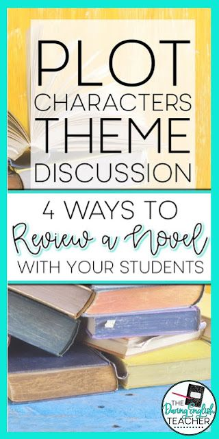 4 Ways To Review A Novel With Your Students English Teacher High School Middle School Reading Activities Middle School Reading