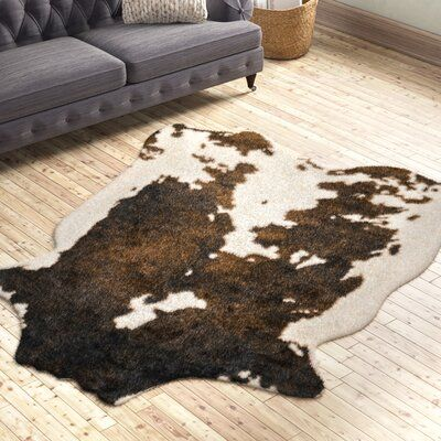 Pin By Anna Larsen On Western Furniture In 2021 Faux Cowhide Brown Area Rugs Faux Cowhide Rug