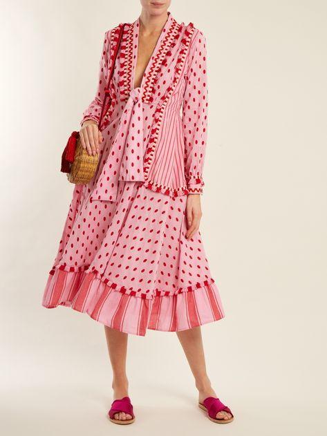 Dodo Bar Or Padma polka-dot cotton midi dress