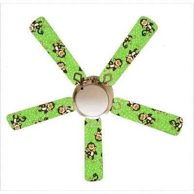Zoomie Kids 52 Spradlin Monkeys 4 Blade Ceiling Fan Light Kit Included Zoomie Kids Ceiling Fan Fan Light Kits White Ceiling Fan
