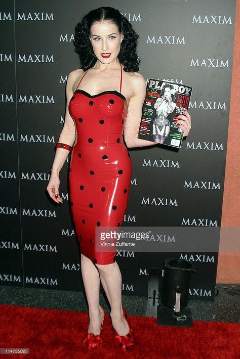 Dita Von Teese attending Maxim Magazine& Pussycat Dolls Party at the Henry Fonda Theatre in Los Angeles, CA