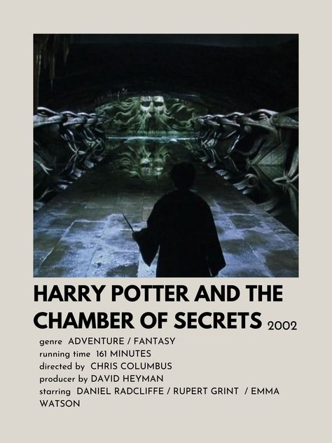 Poster de Harry Potter And The Chamber Of Secrets