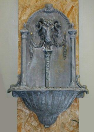 Rams Column Fountain In 2020 Garden Ornaments For Sale Wall