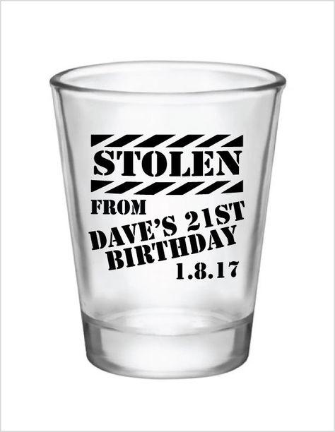 1 Finally 21 1 75 Oz Shot Glass Funny 21st Birthday Gift Home Kitchen Kitchen Dining