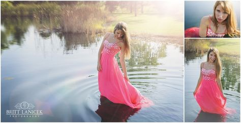 Senior Pictures in Prom Dress by Ohio Photographer Britt Lanicek