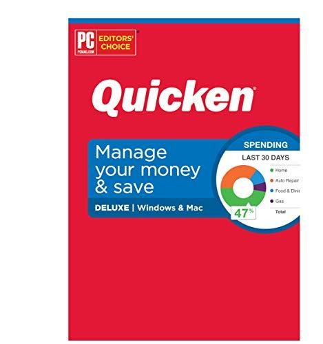 Quicken Deluxe Personal Finance – Manage your money and save – 1-Year Subscription (Windows/Mac) - Default