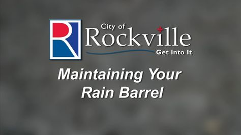 """The final video in the City of Rockville's four-part RainScapes series, """"Maintaining Your Rain Barrel."""" Residents can learn how to effectively take care of and use a rain barrel as well as how to handle mosquitoes, get ready for storms, and prepare for winter."""
