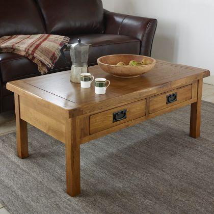 Rustic Coffee Table In 100 Solid Oak Oak Furnitureland Coffee Table Rustic Coffee Tables Coffee Table Wood