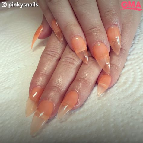 nails videos Jelly nails are taking over the summer Jelly nails are the new big manicure trend! The clear-style acrylic nails are perfect for showing off that summer tan.