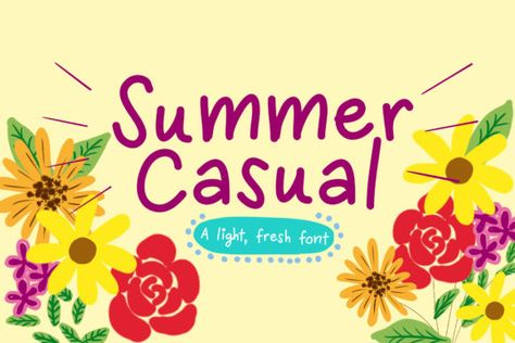 Summer Casual (Font) by Reg Silva Art Shop · Creative Fabrica