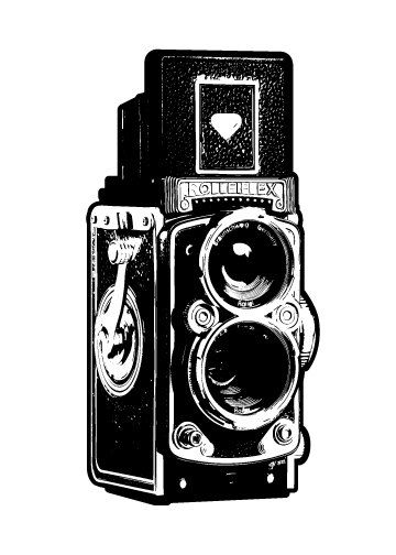 Vintage Camera Illustration  Fine Art Print  by UnfoldingCreative