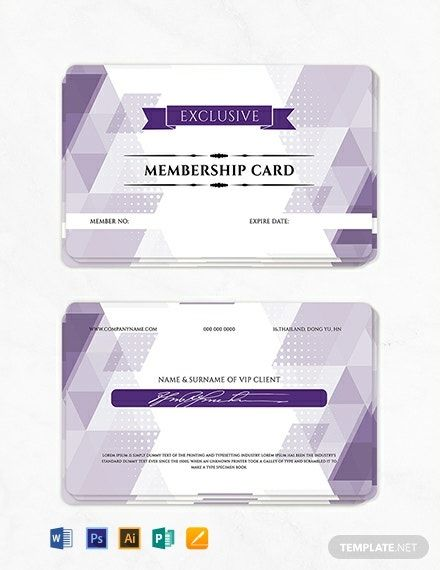 Instantly Download Free Vip Member Card Template Sample Example In Microsoft Word Doc Adobe Photoshop Psd Ad Card Template Member Card Membership Card