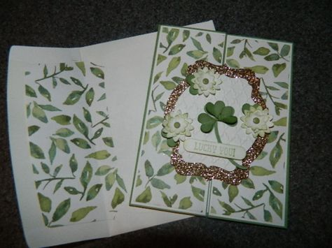 Shamrock Punch Art, St. Patrick's Day, Gate Fold card. Hi Everyone! A St. Patrick's Day card for you :) Happy Crafting!~ Dee createwithdee.com