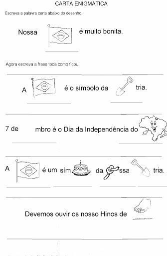 Atividades Para Dia 7 De Setembro Independencia Do Brasil