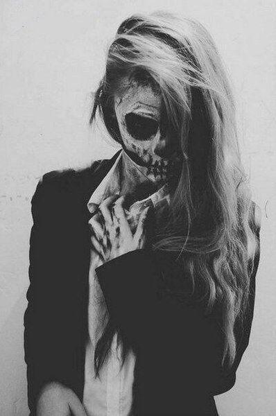 Mylist 2020 My Favoruite Lists Beautiful Halloween Makeup Zombie Girl Skeleton Face