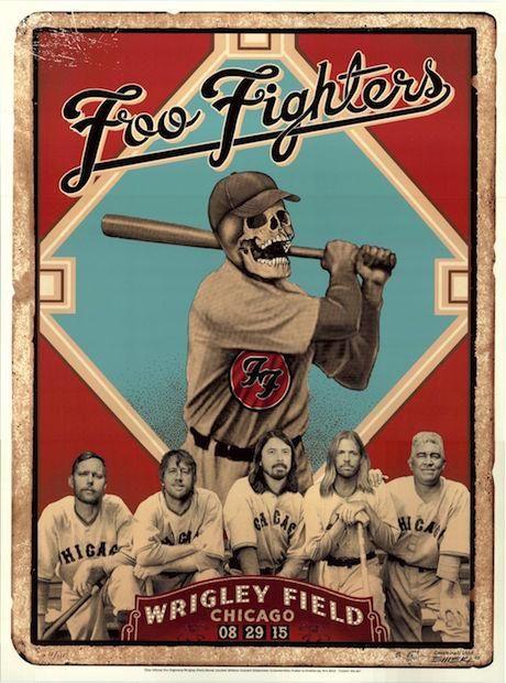 2015 Foo Fighters - Chicago Silkscreen Concert Poster by Emek