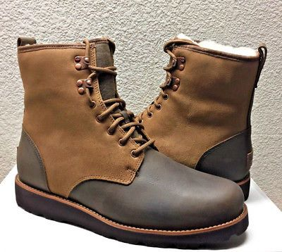 d598fdb859f Ad)eBay - UGG MEN HANNEN TL DARK CHESTNUT LEATHER WATERPROOF Boot US ...