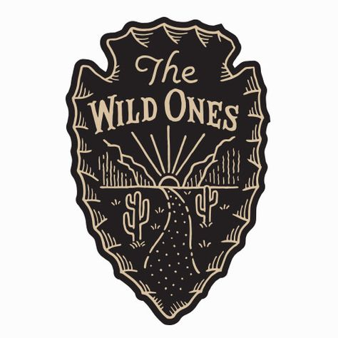 Vintage Graphic Design The Wild Ones - Arrowhead Logo Design Vintage Graphic Design, Graphic Design Illustration, Logo Design Inspiration, Icon Design, Toro Logo, Western Logo, Outdoor Logos, Retro Logos, Vintage Logos