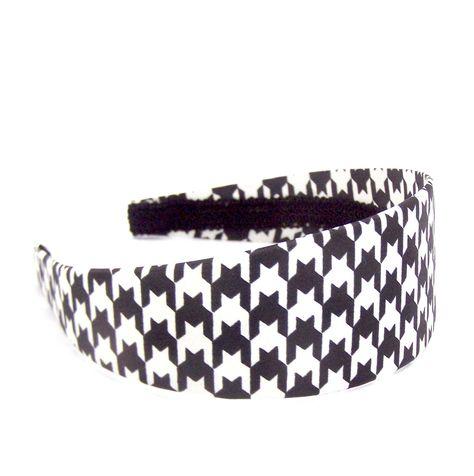 Black /& White Houndstooth Wide Headband NWT
