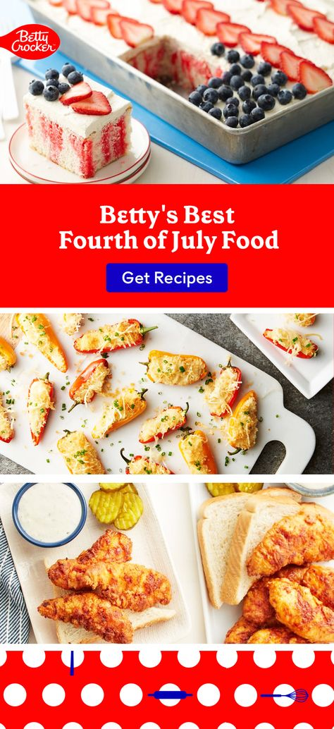 For patriotic food ideas, try some dishes from Betty's Best Fourth of July Food. Pin this today for standout meals.