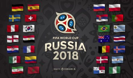 Russia 2018 World Cup Country Flags World Cup Russia 2018 Russia World Cup World Cup